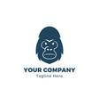 gorilla head logo template vector image
