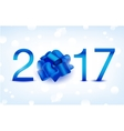 Happy New Year Blue 2017 vector image vector image