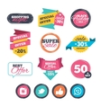 Hipster photo camera Like Chat speech bubble vector image vector image