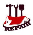 home repair symbol roand tool vector image vector image