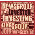 Investment Newsgroup A Hidden Gem for Investors vector image vector image