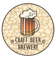 label banner or a coaster for beer vector image