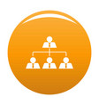 leadership icon orange vector image