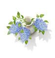 lilacs in vase vector image vector image