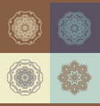 mandala east ornament set of vector image