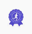 marathon vintage emblem badge with running man vector image
