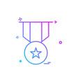 medal reward icon design vector image