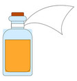 medicine in a bottle on white background vector image vector image