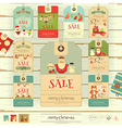 Merry Christmas and New Year Sale Tags vector image vector image