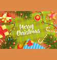 merry christmas banner template happy new year vector image