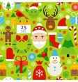 Merry Christmas Green Tile Pattern vector image vector image