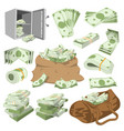 money stack of dollar or currency cash vector image vector image