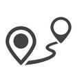 monochrome pin destination icon vector image