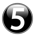 Number five button vector image vector image