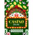 online casino poker wheel fortune jackpot vector image