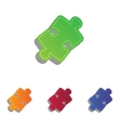 Puzzle piece sign Colorfull applique icons set vector image vector image