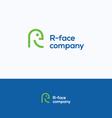 R Face logo vector image vector image