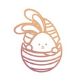 rabbit with easter egg vector image vector image