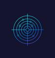radar icon linear vector image