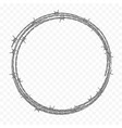 ring made metal barbed wire vector image vector image