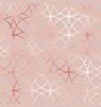 rose gold elegant geometric pattern vector image vector image