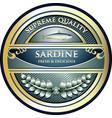 sardine gold icon vector image vector image