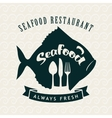 seafood restaurant with fish vector image vector image