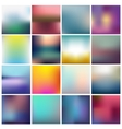 set blurred abstract backgrounds vector image