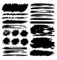 set of brush stroke black ink vector image vector image
