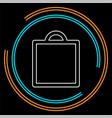 shopping icon fashion bag vector image vector image