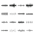 Sound wave icons set simple style vector image vector image