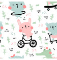 Summer animals pattern
