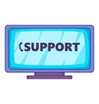 Support icon cartoon style vector image vector image