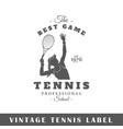 tennis label vector image vector image