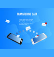 transferring data conceptual design template vector image