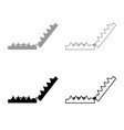 trap icon outline set grey black color vector image vector image