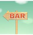 vintage beach bar sign vector image
