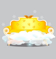 vintage golden sofa with clouds isolated on grey vector image vector image