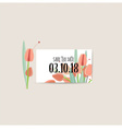 Wedding invitation card with romantic flower vector image vector image