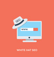 white hat seo vector image vector image