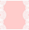 white round lace border on pink background vector image