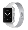 white wristwatch vector image