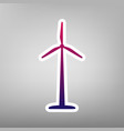 wind turbine logo or sign purple gradient vector image vector image