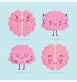 world mental health day cartoon brains human vector image vector image