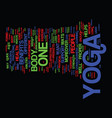 yoga products text background word cloud concept vector image vector image