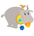 Young hippo vector image vector image