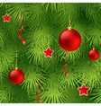 Christmas tree fir branch seamless background vector image