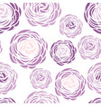 seamless pattern with purple flowers vector image