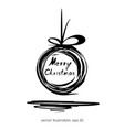 christmas doodle design vector image