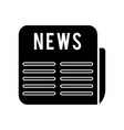 news icon black sign on vector image